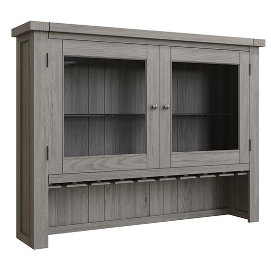 View Floyd large wooden 2 doors dresser top in grey oak