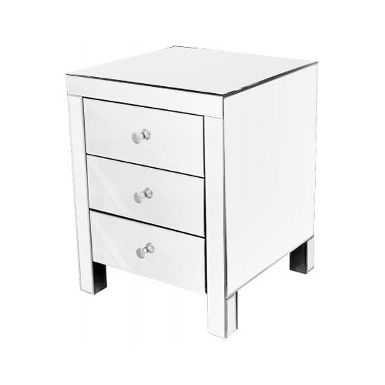 Read more about Mirrored 3 drawer bedside cabinet