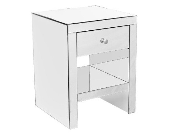 Mirrored bedside cabinet fm292 6508 furniture in fashion for Mirror bedside cabinets