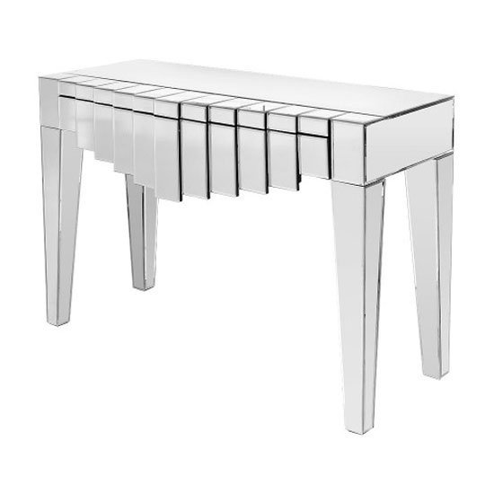 Manhatten Mirrored Console Table With Drawers