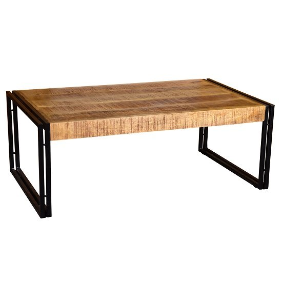 Follett Wooden Coffee Table In Natural With Black Metal Frame_1