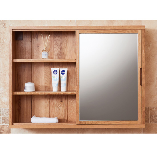 Fornatic Bathroom Mirrored Wall Storage Unit In Mobel Oak_1