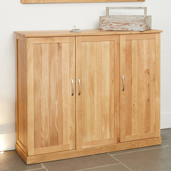Fornatic Extra Large Wooden Shoe Storage Cabinet In Mobel Oak