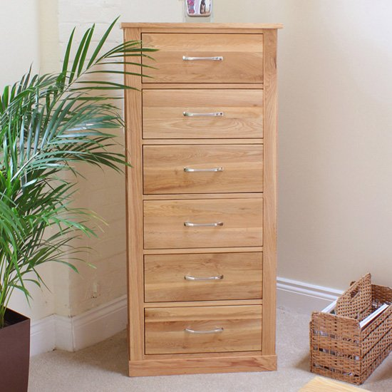 Fornatic Wooden Chest Of Drawers In Mobel Oak With 6 Drawers