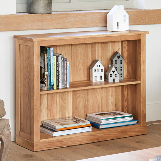 Fornatic Wooden Low Bookcase In Mobel Oak