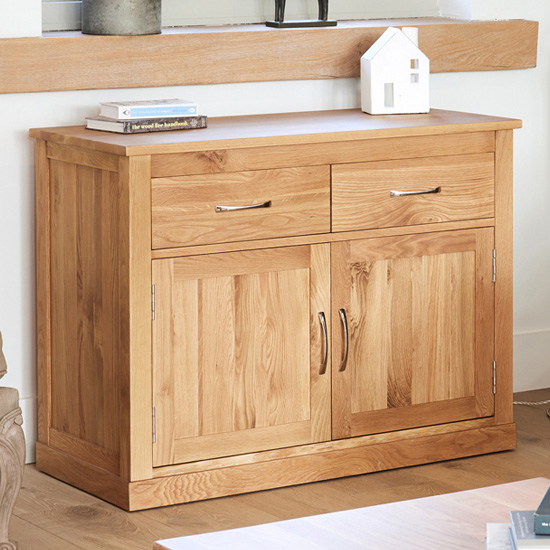 Fornatic Wooden Sideboard In Mobel Oak With 2 Doors 2 Drawers