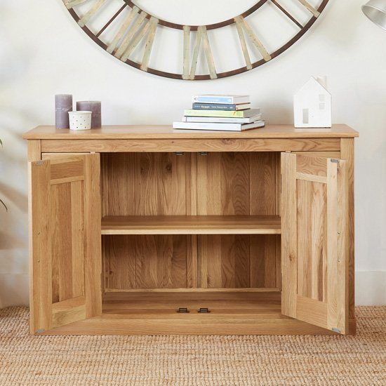 Fornatic Wooden Sideboard In Mobel Oak With 2 Doors 6 Drawers_2