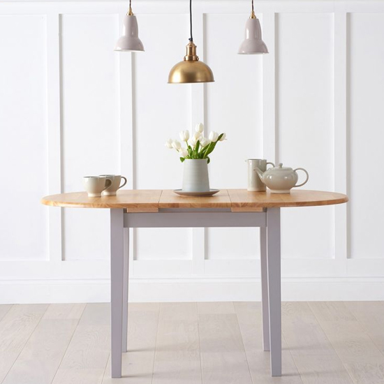 Fornax Extending Dining Table In Oak And Grey