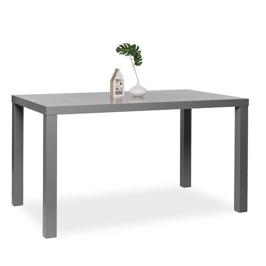 Fortis 140cm Dining Table Rectangular In Matt Dark Grey