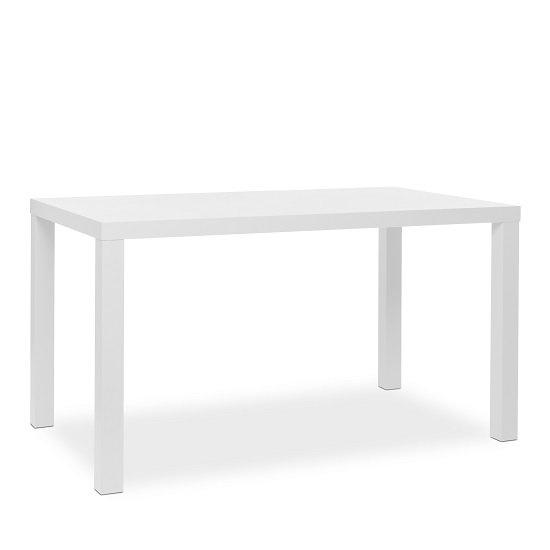 Fortis Dining Table Rectangular In Matt White