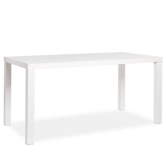 Fortis Large Dining Table Rectangular In Matt White