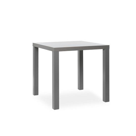 fortis dining table square in matt dark grey