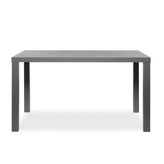 Fortis Dining Table Rectangular In Dark Grey High Gloss