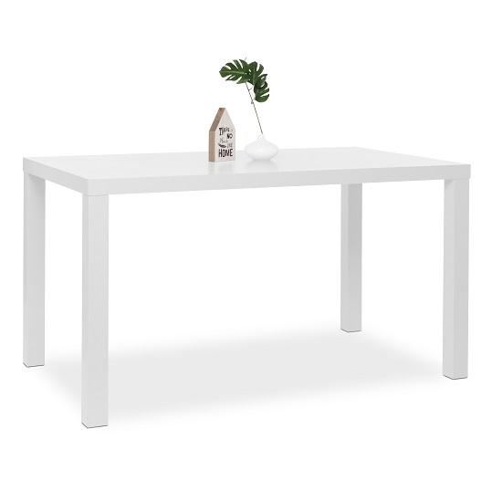 Fortis Dining Table Rectangular In White High Gloss