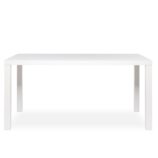 Fortis Large Dining Table Rectangular In White High Gloss_2