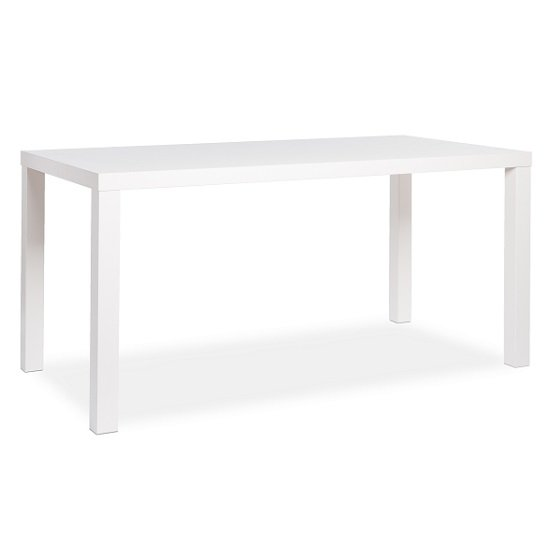 Fortis Large Dining Table Rectangular In White High Gloss_3