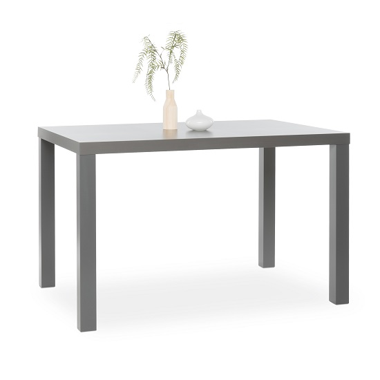 Fortis Small Dining Table Rectangular In Dark Grey High Gloss_1