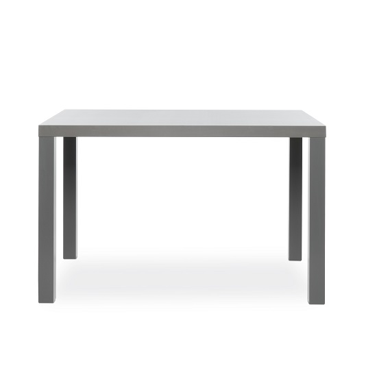 Fortis Small Dining Table Rectangular In Dark Grey High Gloss_2