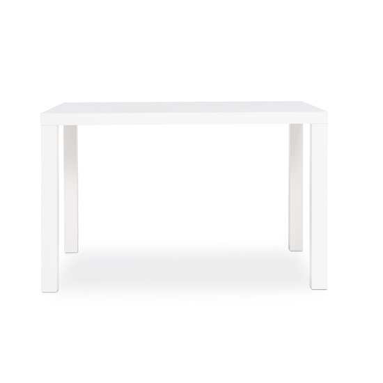 Fortis Small Dining Table Rectangular In White High Gloss_2