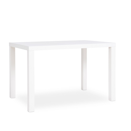 Fortis Small Dining Table Rectangular In White High Gloss_3