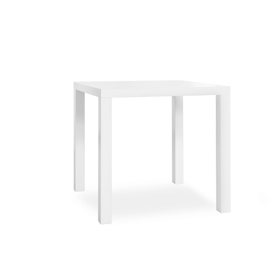 Fortis Dining Table Square In White High Gloss_4