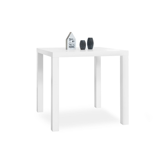 Fortis Dining Table Square In White High Gloss_2
