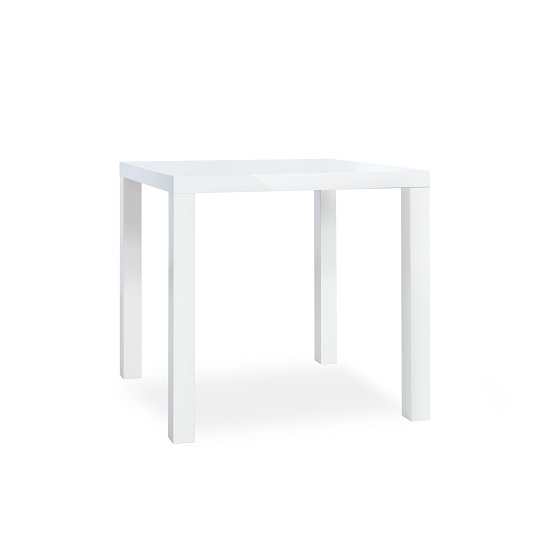 Fortis Dining Table Square In White High Gloss