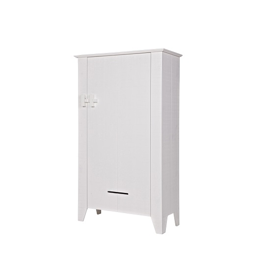Foster Wooden Home Office Cabinet In White With 1 Door