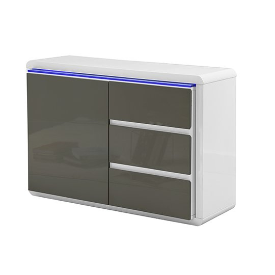 Frame Small Wooden Sideboard In White And Grey High Gloss_4