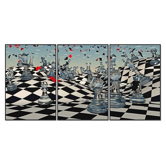 Acrylic Framed Chess Sensation Pictures (Set of Three)_1