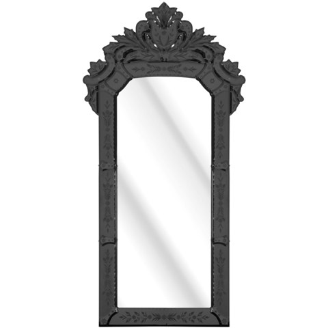 Solitaire Wall Mirror In Black Framed