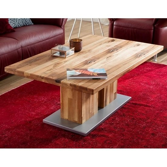 Franca Wooden Coffee Table Rectangular In Turkey Oak
