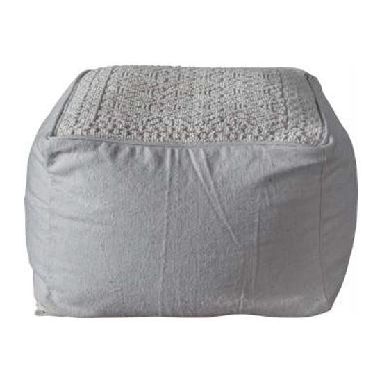 Franco Fabric Upholstered Square Pouffe In Natural_2