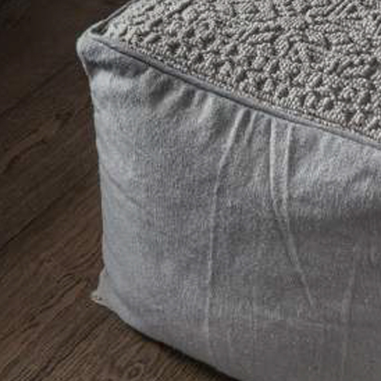 Franco Fabric Upholstered Square Pouffe In Natural_3