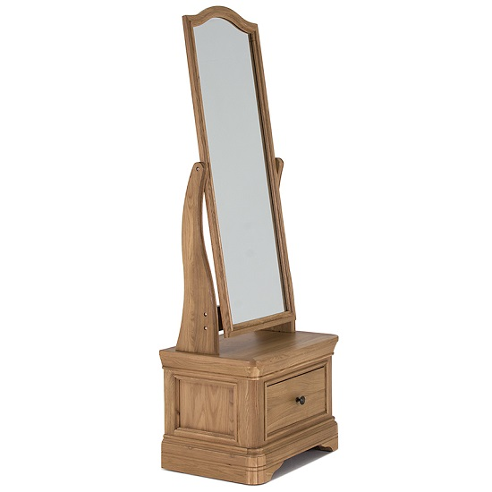 Frank Cheval Mirror In Natural Oak Frame With Drawer_2