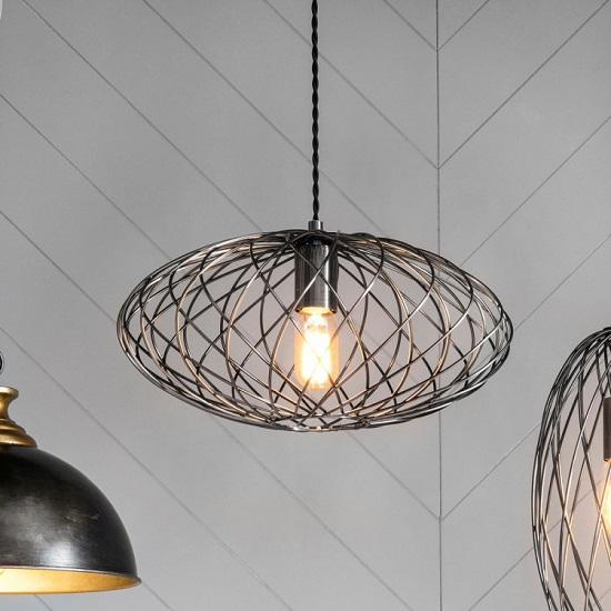 Frankland Spheroid Metal Cage Pendant Light