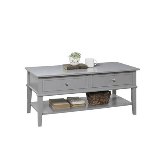 Franklin Wooden Coffee Table In Grey_2