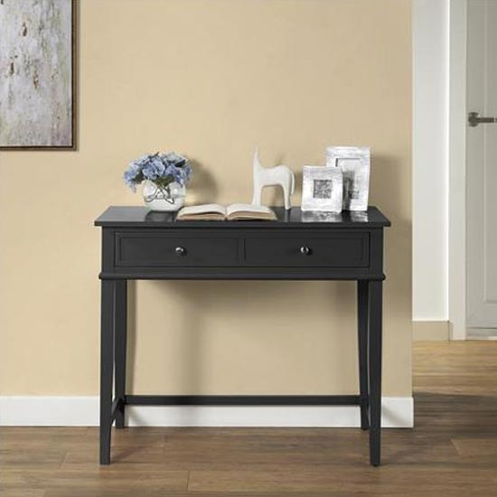 Franklin Wooden Laptop And Writing Desk In Black