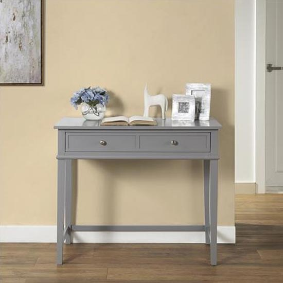 Franklin Wooden Laptop And Writing Desk In Grey_1