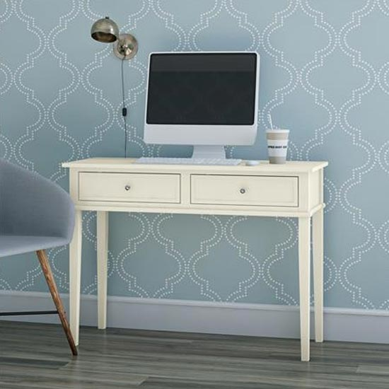 Franklin Wooden Laptop And Writing Desk In White