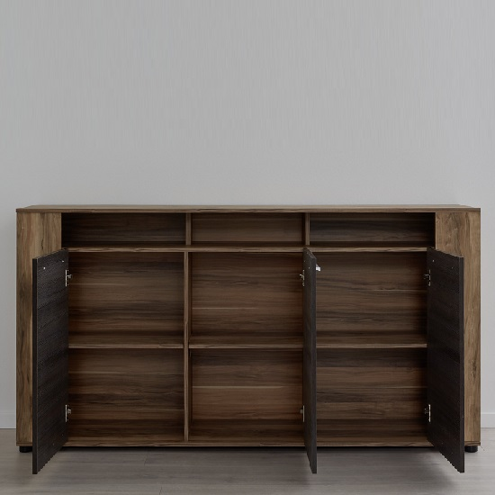 Frantin Contemporary Sideboard In Walnut With LED Lighting_2