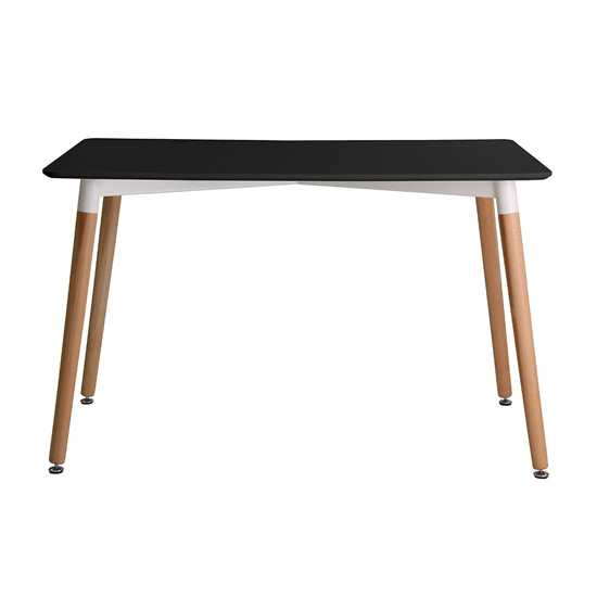 Fraser Wooden Dining Table In Black