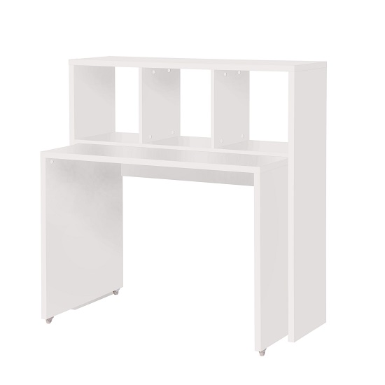 Photo of Fraser contemporary wooden computer desk in white