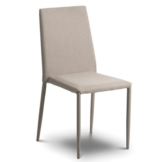 Fredo Fabric Dining Chair In Sand Linen
