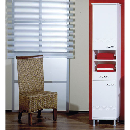 Jessica White Tall Bathroom Cabinet 4104 84