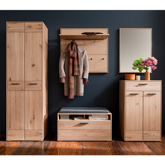 Frejus Wooden Hallway Furniture Set 1 In Planked Oak