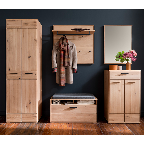 Frejus Wooden Shoe Storage Cabinet In Planked Oak_5
