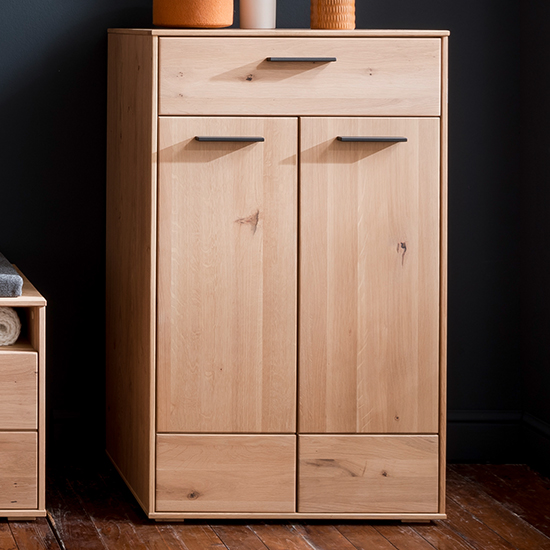 Frejus Wooden Shoe Storage Cabinet In Planked Oak_1