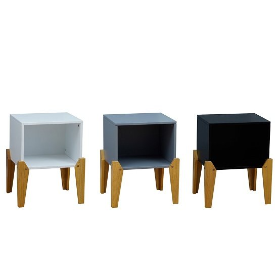 Fremont Contemporary Wooden Bedside Table In White_2