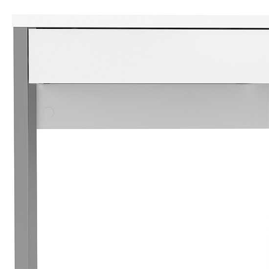 Frosk High Gloss 2 Drawers Computer Desk In White_6